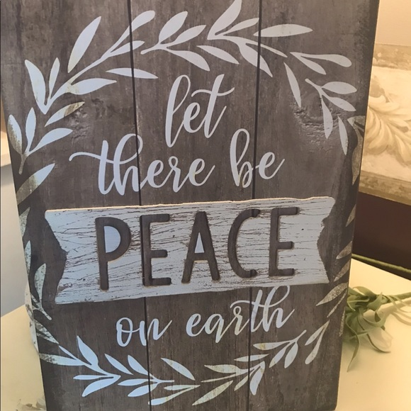🆕 Let There Be Peace On Earth sign